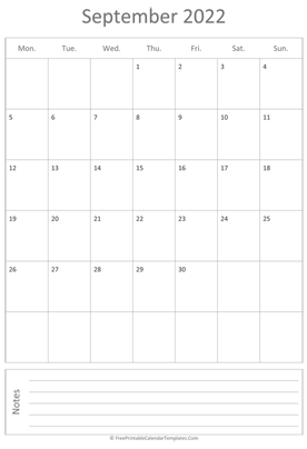 printable september calendar 2022 vertical