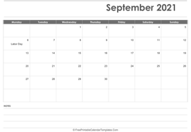 september 2021 calendar printable with holidays